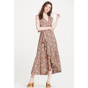 Rebecca Taylor Moonlight Poplin Ruffle Wrap Dress